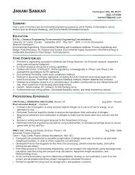 Chemical Engineering Resume Examples And Engineer Template Latest
