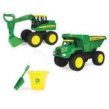 John Deere Big Scoop Dump Truck And Excavator Toy Set - LP67329 ...
