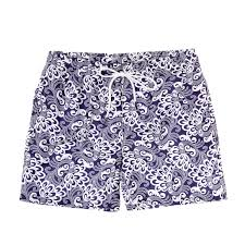 100 Coco Republic Sale Mens Paisley Board Shorts In Violet