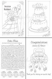 Photographic Gallery Personalized Wedding Coloring Books