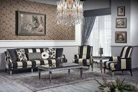 casa padrino luxus barock wohnzimmer set schwarz gold silber 1 sofa 2 sessel 1 couchtisch 1 beistelltisch barockmöbel