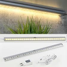 led leiste unterbauleuchte 30 leds warmweiß lichtleiste stripe licht küche küchenlicht