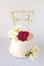 You Are My Favorite Wedding Cake Topper