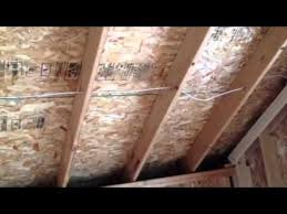 bonus room cathedral ceiling insulation youtube