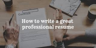 100 How To Write A Good Resume To A Great Professional That Will Get You An