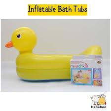 qoo10 munchkin inflatable duck bathtub infants babies toddlers