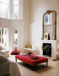 Red And Black Living Room Decorating Ideas by Best 25 Red Ottoman Ideas On Pinterest Red Decor Accents Black