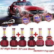 m box combo 2 pair h11 samsung led 42 smd white 6k headlight bulb