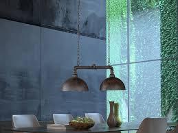 fischer honsel led pendelleuchte industrial style wasser rohr rost optik 2 flammig industrie le esszimmer le für über esstisch kücheninsel