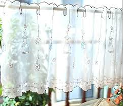 Embroidery Kitchen Curtain Coffee Dining Room