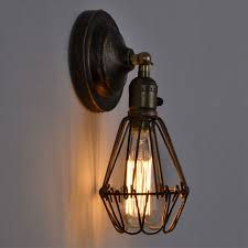 Rustic Wall Lamp Industrial Sconce Loft Light Fixtures Vintage Home Lighting Decor Led Bulb Cage Luminaire
