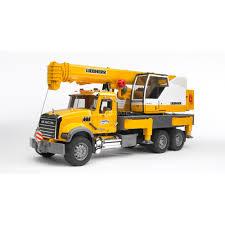 100 Bruder Mack Granite Liebherr Crane Truck Bruder MACK Crane Truck Toy Vehicle ABS Synthetics