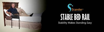 Stander Bed Rail by Stander Stable Home Bed Rail Extendable Legs Padded Pouch