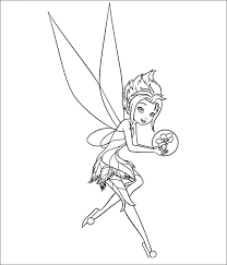 Free Tinkerbell Coloring Page