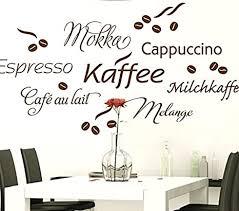 wandtattoo günstig g017 kaffee cappuccino espresso milchkaffee kaffeebohnen wandaufkleber wandsticker küche braun bxh 130 x 67 cm