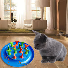 Cute Fish Tail Cat Dog Slow Eating Bowl Puzzle Feeder Pet Bowl in