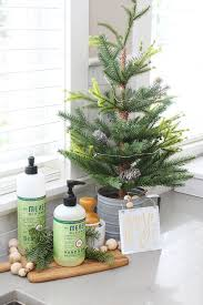 Christmas Kitchen Decorating Ideas White Dressed In Frosted Greens For A Festive Touch