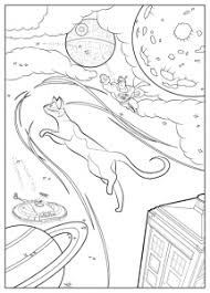 Coloring Page Adult Cat By Juline