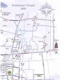 Prambanan Map Yogyakarta Travel Guides Tourism Maps
