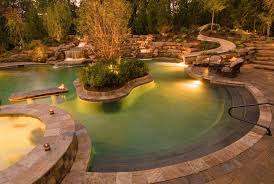 Outdoor Lighting Perspectives of Northern Ohio water feature