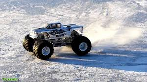100 Trucks In Snow CPE Barbarian Monster Truck Ice Epic Slowmotion YouTube