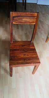 4 stühle massivholz sheesham palisander esstischstühle wohnzimmer