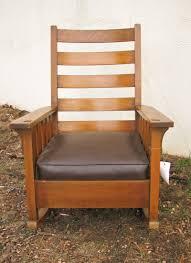 Charles Stickley Rocking Chair by Gustav Stickley Slatted Rocker F9771 Joenevo