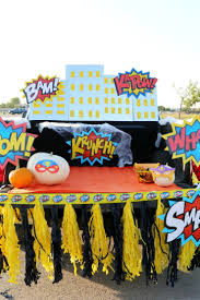 Superhero Halloween Trunk Or Treat Ideas + DIY Skyline - Child At ... Here Are 10 Fun Ways To Decorate Your Trunk For Urchs Trunk Or Treat Ideas Halloween From The Dating Divas Day Of The Dead Unkortreat Lynlees Over 200 Decorating Your Vehicle A Or Event Decorations Designdiary Any Size 27 Clever Tip Junkie 18 Car Make It And Love Popsugar Family Treat Halloween Candy Cars Thornton