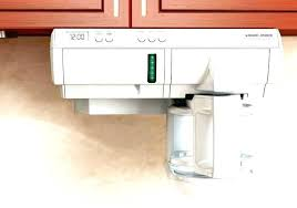 Under The Counter Coffee Maker Recalled Coffeemaker White