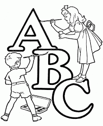 Abc Teach Alphabet Coloring Pages Wecoloringpage Printable Educations