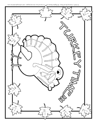 Turkey Placement Freebie Coloring Page Printable