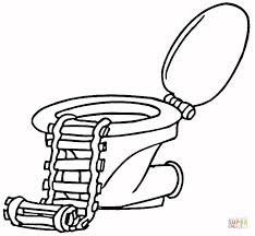 Click The Toilet With A Ladder Coloring