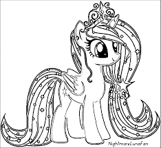 Pony Cartoon My Little Coloring Page 114