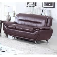 100 Modern Living Room Couches UFE Norton Dark Brown Faux Leather Sofa Walmartcom