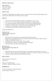 Medical Biller Resume Sample For Coder Inspirational Billing