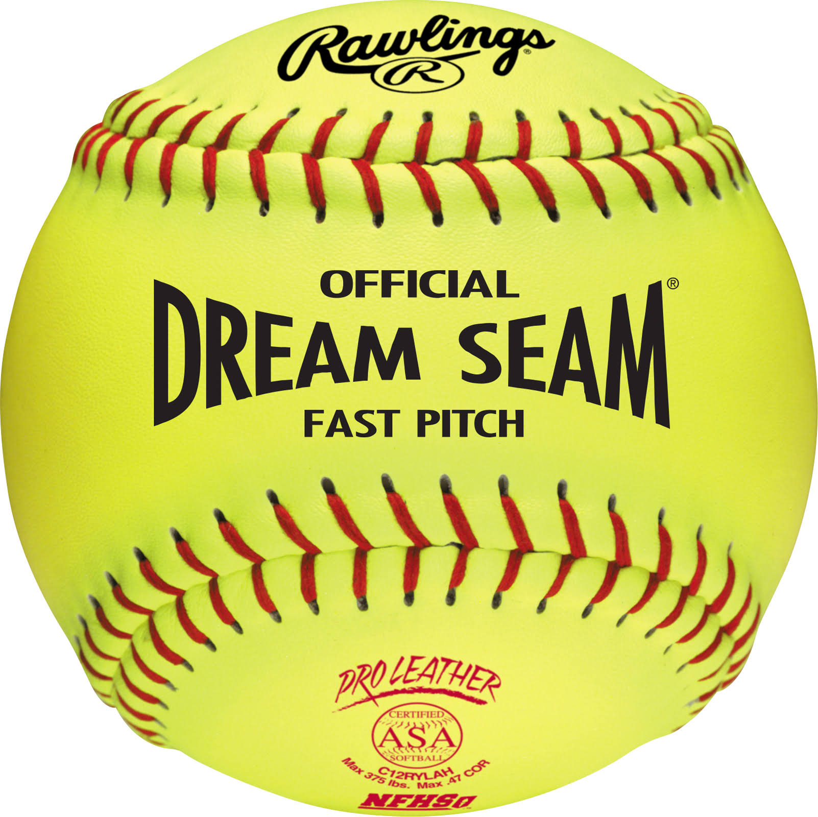 Rawlings Sporting Goods Official Dream Seam Fast Pitch Baseball