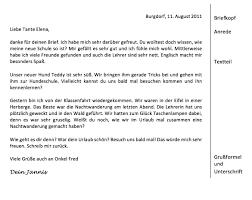 5 Klasse Brief Schreiben Beispiele