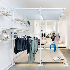 Scaffolding Forms Temporary Clothing Rails At Berlin Pop Up Shop By Kontent