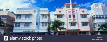 miami south deco na usa florida miami south deco buildings stock