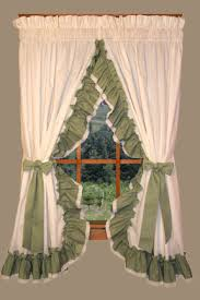 Priscilla Curtains With Attached Valance by Bj U0027s Country Charm Ruffled Curtains Ruffled Curtains