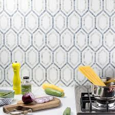 The Tile Shop Sterling Heights Michigan by Hexagon Marble Tile Misty Fjord Hexagon Polished Tile Cercan