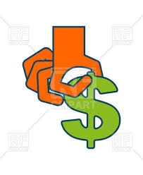 Take profit money Hand and dollar royalty free vector