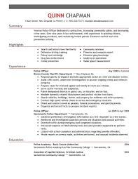 Police Offi Resume Examples As Profile