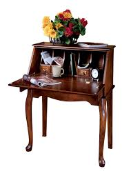 Small Secretary Desk With File Drawer by Neli Home Office Living Room Brown Space Saver Secretary Desk