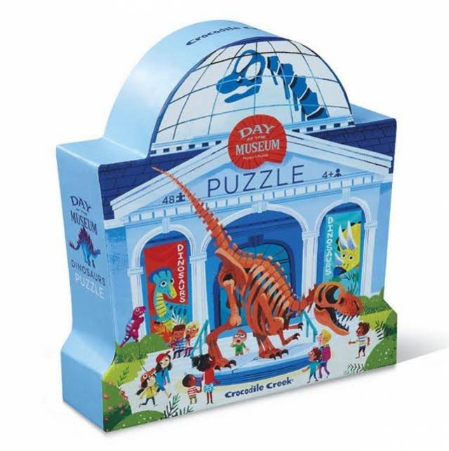 Crocodile Creek Day at the Museum Shaped Box Puzzle - 48pcs