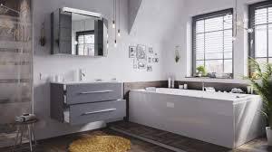 posseik badmöbel set homeline 90 2 teilig anthrazit seidenglanz inkl spiegelschrank mit design le