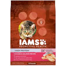 high protein cat food iams proactive health high protein chicken salmon recipe cat