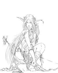 Dungeons And Dragons Elf Coloring Pages Printable Sketch Page