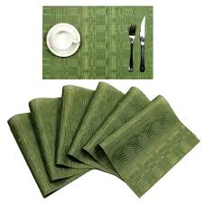 SHACOS Placemats For Dinner Table Set Of 6 PVC Woven Vinyl Table Mats Wipe  Clean Heat Resistant(6, Green Bamboo Grid) Flash Fniture 36 In Round Natural Laminate Table Set With Cosco Vinyl Folding Chairs Game Poker Teal Shacos Placemats For Dinner Of 6 Pvc Woven Mats Wipe Clean Heat Resistant6 Green Bamboo Grid Us 208 2015 Free Shipping Coffee Shop Wall Decal Tea Cafe Restaurant Decoration Chair Mural Art Stickerin Minimalist And Cool Scdinavian Ding Modern Room Small White Big Material Faux Detail Feedback Questions About 24 Kitchen Height Tables For Tray Cloth Foldable Combi Roller Venetian Blinds Curtains Carpet Roll Vinyl Sutton 3 Piece Spacesaver Bistro Glass Top And Padded