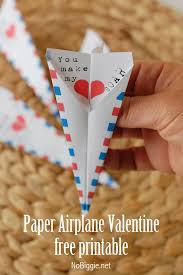 Paper Airpalne Valentine Are A Great Way To Send Valentines Your Childrens Classmates
